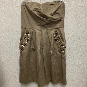 The Limited tan dress size 12